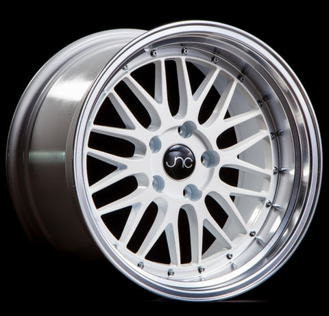 JNC 005 WHITE MACHINED LIP 18 x 8 +34 5x112