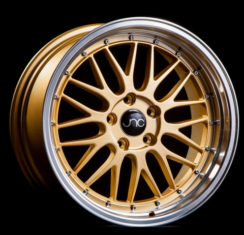JNC 005 GOLD MACHINED LIP 18 x 8 +34 5x112