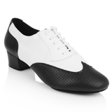Ray Rose 318 Adolfo Black Leather & White Leather Salsa Dance Shoe