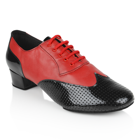 Ray Rose 318 Adolfo Black Patent & Red Leather Latin Dance Shoe