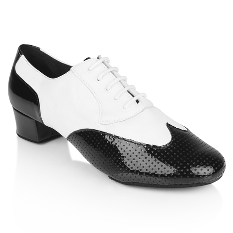 Ray Rose 318 Adolfo Black Patent & White Leather Salsa Dance Shoe