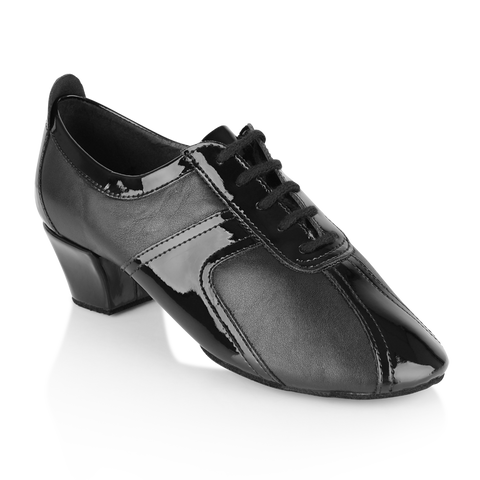 Ray Rose 410 Breeze | Black Leather/Black Patent Latin Dance Shoe