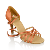 Ray Rose H860-X Kalahari Xtra | Dark Tan Satin | Ladies Latin Dance Shoes - WIDE