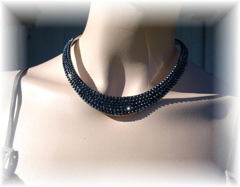 Necklace 008 Pave' Hematite
