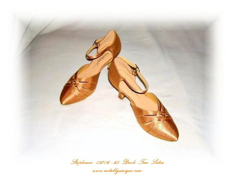 Stephanie 15016 - 65 Dark Tan Satin