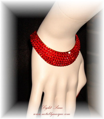 Bracelet 008 Pave' with Swarovski Crystal Stones: Light Siam