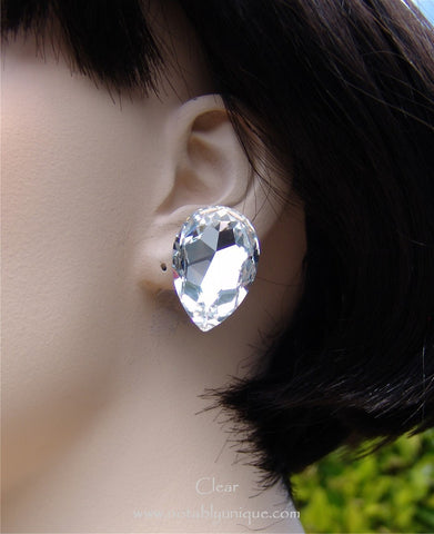 Swarovski Austrian Crystal EJ 343 - B Pear Shape Earring: Clear