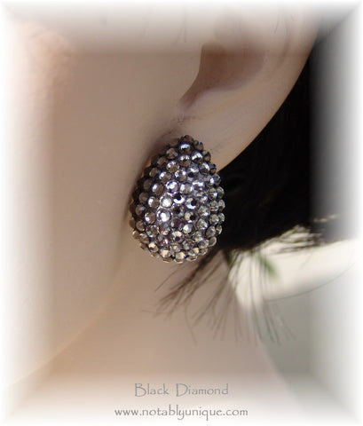 Swarovski Austrian Crystal  - EJ 1287 Earring: Black Diamond