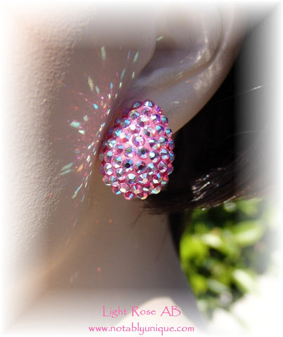 Swarovski Austrian Crystal  - EJ 1287 Earring: Light Rose AB