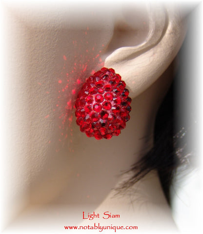 Swarovski Austrian Crystal  - EJ 1287 Earring: Light Siam