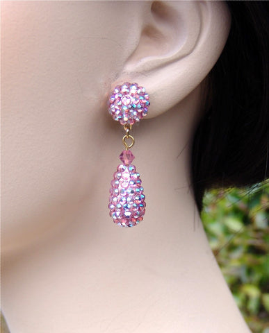 Swarovski Austrian Crystal - EJ 2211: Light Rose AB