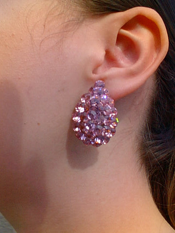 Swarovski Austrian Crystal EJ 796 Earring: Light Rose