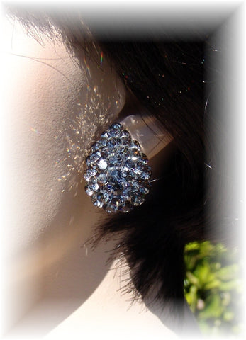 Swarovski Austrian Crystal EJ 796 Earring: Black Diamond