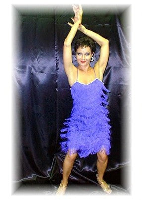 NUG 2646 Purple Fringe Dress