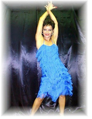 NUG 2646 Royal Blue Fringe Dress