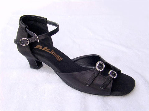 GO 7200 Black Satin Latin Shoe