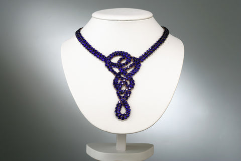 NUG - NC 11 007-02 Swarovski Crystal Necklace: Cobalt Blue