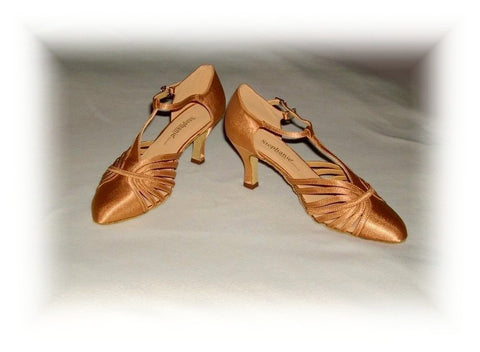 "Stephanie 15015 - 65  ""American Smooth""  Dark Tan Satin"