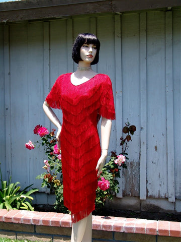 NUG 2647 Red Fringe Dress