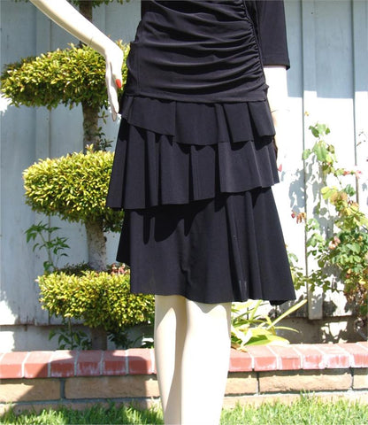 NUG S150 Black Asymmetrical Layer Skirt