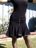 NUG 0010 Black Short Latin Skirt