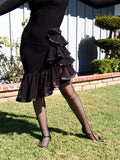NUG 00756 Black Latin Dress