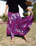 NUG 1010 - P622 Purple and Fuchsia Print Pattern American Smooth Skirt