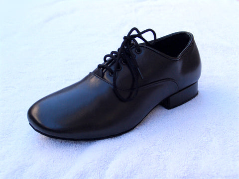 NUG Extra Wide Black Leather Ballroom Shoe