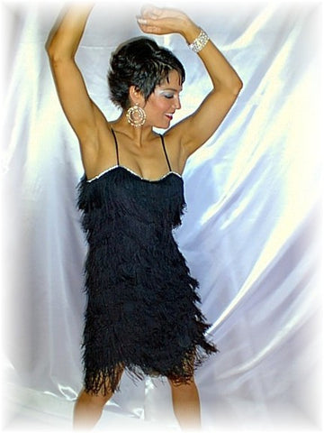 NUG 2646 Black Fringe Dress