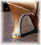 Aurora Borealis Swarovski Custom Stoned Satin Shoes