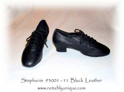 Stephanie Professional Dance Shoes 93001-11 Black Leather / Flex Split Sole