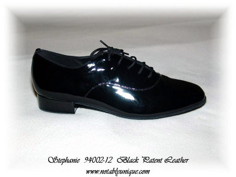 Stephanie Professional Dance Shoes - E400112 Black Patent Leather