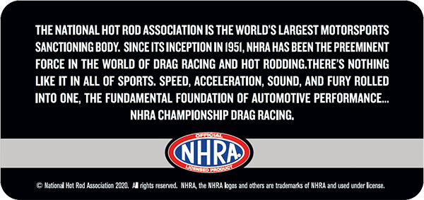 Official NHRA Licensed Product