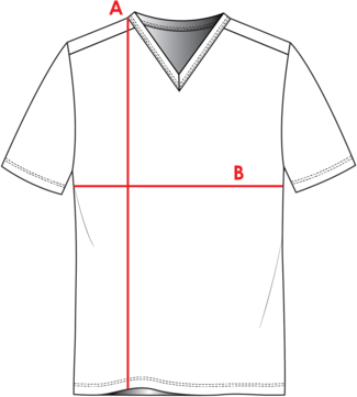 V-Neck Shirt Measurements