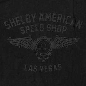 Shelby American Speed Shop Tee-Black