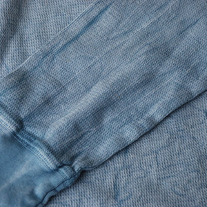 PALE BLUE CRINKLE THERMAL LONG SLEEVE