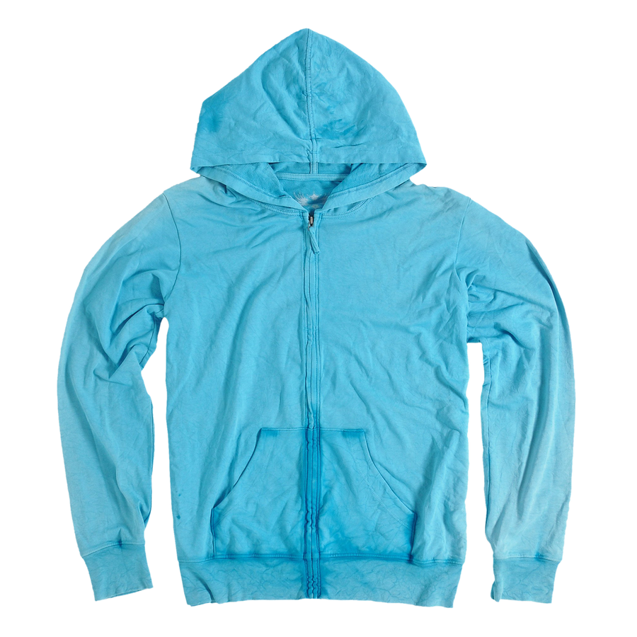LIGHT AQUA FRENCH TERRY HOODIE: SIZE LARGE ONLY