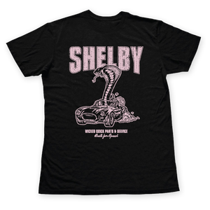 Shelby Parts & Service Vintage Style Slub Tee Pink-Medium Only