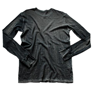 CHARCOAL CRINKLE THERMAL LONG SLEEVE: Size S Only