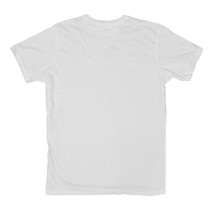WHITE V-NECK CRINKLE TEE