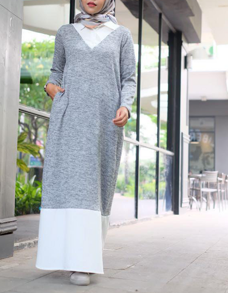 Pullover Sweater Shirtdress