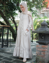 Load image into Gallery viewer, Ruffled Hem Maxi Dress in Cream