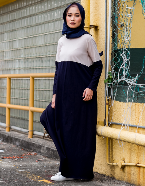 Duo Tone Maxi in Navy