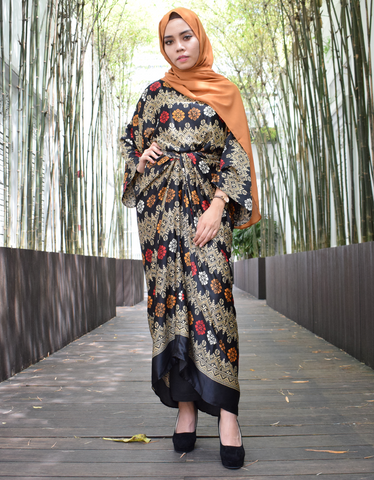 Ombre Parang Batik Wrap Dress