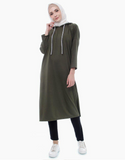 Hoodie Tunic in Army Green