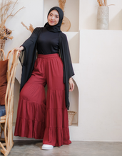 Load image into Gallery viewer, Tiered Palazzo in Maroon - Size S