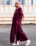 Maxi Shirt Dress in Burgundy