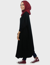 Load image into Gallery viewer, Midi Dress Tunic in Black - Free size