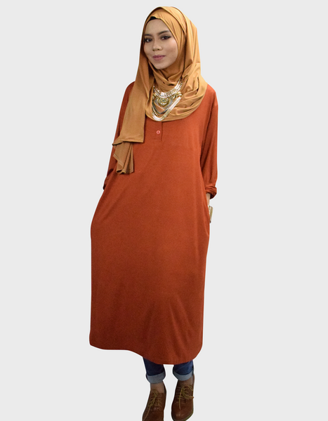 Midi Dress in Cinnamon