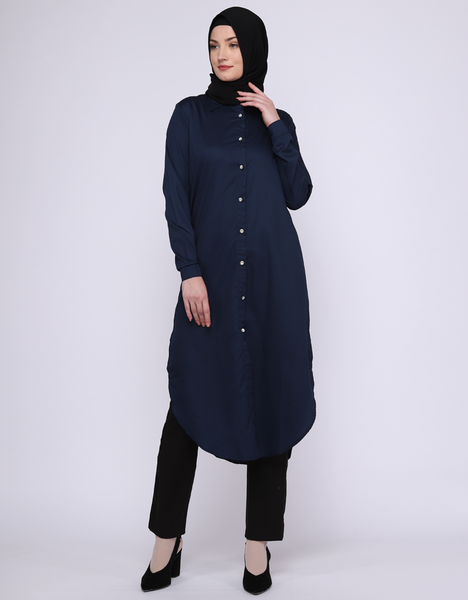 Midi Shirt in Navy